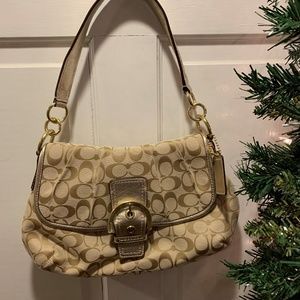 Coach ~ Hobo /Gold Buckle Front